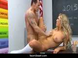 InnocentHigh Blonde Teen Cameron Dee Fucks Her Well Hung Teacher