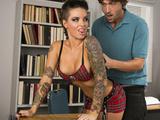 Big-booty schoolgirl Christy Mack rides her classmate's cock
