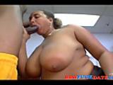 Latina BBW fucked by black guy