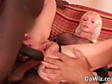Beautiful blonde and her large holes