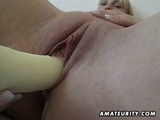 Busty Amateur MILF Masturbates With Toy Before Blowjob
