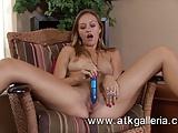 Sexy interview turns into hot masturbation session