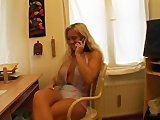 Hot euro milf turning herslf on on the phone - Julia Reaves