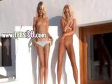 Two Fairhair Angels In High Heels