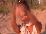 Sexy Teen Fingering On The Hot Beach
