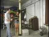Asian Girl Gets Hogtied And Mouth Taped Shut By Her Sadistic Master