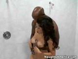 Vanessa Leon Fucks A Black Cock In The Bathroom