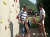 Risky Public Threesome - Public Videos