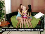 Naughty Brunette And Blonde And Redhead Lesbians Licking Pussy Ina Three Way Lesbian Orgy