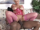 blond milf struggles to take blk cock