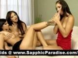 Lovely Brunette Lesbians Licking And Fingering..