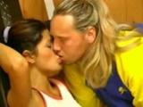 Sexy Bench Pressed German Slut