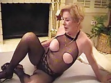 Gilf in bodystocking fucks and sucks