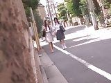 Good friend mother and daughter take a bus13