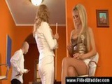 Blonde pisses on her friend