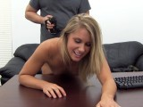 Blonde cutie gets ass fucked and creampied