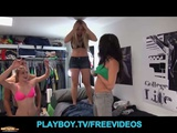 Three FIT College Girls Share A Cock In A Dorm Room Orgy
