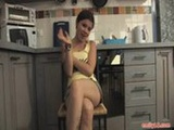 Emily teases in the kitchen