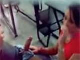 Girl caught sucking off teacher