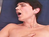 MILF Rozi enjoys a dildo and a cock