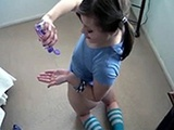 Girlfriend Is Preparing Her Asshole For Hard Fuck