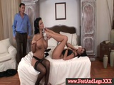Simony Diamond And Virginee Foot Fetish Trio