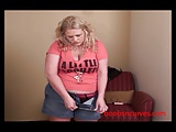 Horny Plump Housewife dresses in PVC