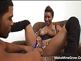 Busty Ebony Sucking Big Cock Is Amazing
