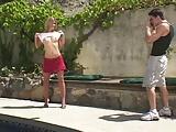 Blonde Teen Paige Turner Fucked Poolside