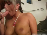 Busty Debby Suck A Large Prick