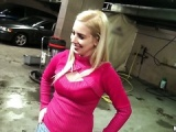 Blonde garage manager fucked for extra cash