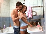 Boy Took His GF's Virginity In The Bathroom