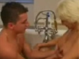 Mom washing boy in bath and it gets completely out of hand