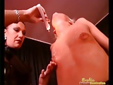 Mistress Shows Slave Couple A Hot Mix Of Pain And Pleasure