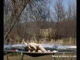 Fucking On A Trampoline - Outdoor Videos