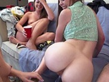 Drunk College Girls Have Fun In Dorm Room