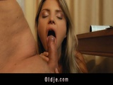Nympho Girl Amazing Sex With Her Old Man
