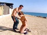 Bitch fucked on the beach