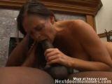 Mature Brunette Sucks Big Black Cock - Glasses Videos