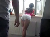 Sexy Girlfriend Bends Over The Window For Getting Fucked