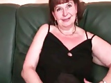 Brunette Grandma Drilled In All Of Her Holes