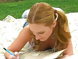 Tight Ginger Teen Gets Fuck Outdoors !