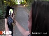 Selfie With Massive Facial In Public - Outdoor Videos