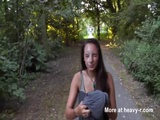 Cum Facial In Public Park - POV Videos