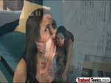 Naughty schoolgirls punished by teacher 2