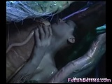 Girl Fucked In The Mouth Of A Monster - Tentacle Videos