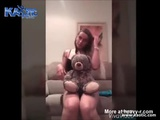 Cute Girl With Her Teddy Bear - Big cock Videos