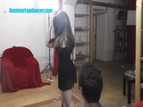19yo amateur teen dances for a  guy
