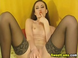 Hot Babe Strips and Fucks her Ass and Pussy
