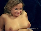 She takes creampie before monster load over tits